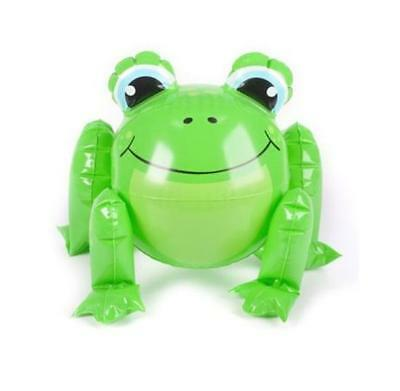 """12"""" Inflatable Cute Green Frog - Blow Up Party Toy Kids Jungle Themed Zoo Animal"""