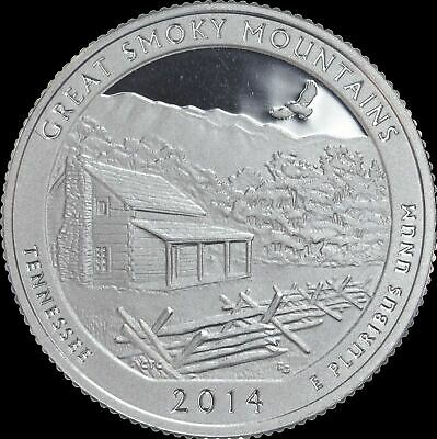 2014 P D S S Great Smoky National Park Quarter Clad Bis 90/% Silver Proof 4 Coins