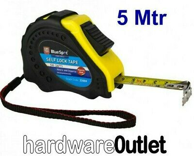 Qty 1 -  5M 16FT Easy Read TAPE MEASURE Self Lock BLUE SPOT with MAGNETIC HOOK