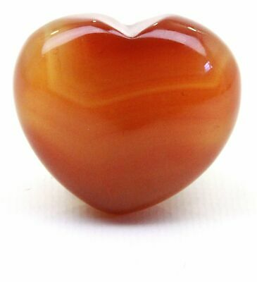 Carnelian Crystal Heart Cut and Polished Mineral - 30mm