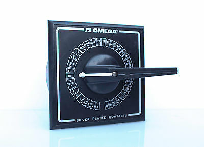 Omega OSWT-40 Thermocouple RTD Selector Switch 3-Pole 40 Position Silver Plated