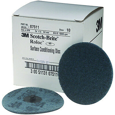 """3M Scotch-Brite 7511 Roloc Surface Conditioning Disc 4"""" Very Fine FREE SHIPPING"""