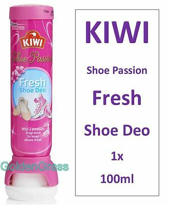 KIWI Deo Fresh SHOE Deodorant Anti Bacteria 48h Odour Kill Spray PINK PASSION