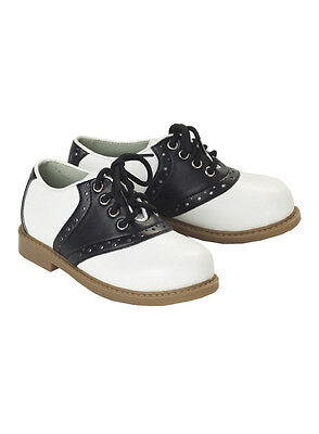 Brand New 50's Fifties Black and White Saddle Shoes Adult Costume Accessory