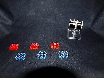 Star Wars X Wing Miniatures Token x6 Pink and Blue Objective tokens