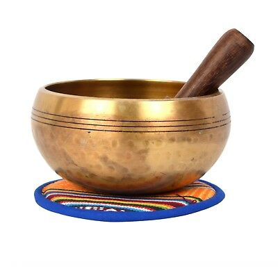 Bermoni® Tibetan Hand hammered Meditation Singing Bowl with protective pouch
