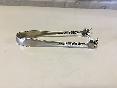 Vintage Antique Lunt Sterling Silver Sugar / Tea Tongs w/ Claw Grabbers