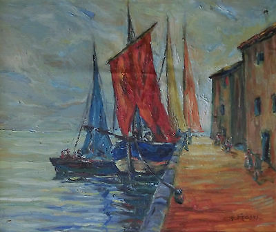 Signed For Frases - Sailing boats at the port Italy ?