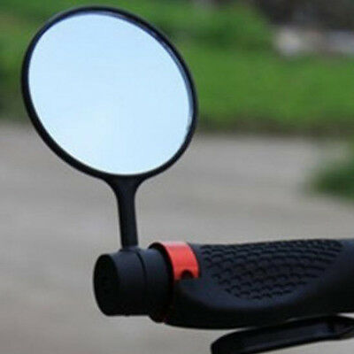 2x Cycling Bike Bicycle Handlebar Flexible Safe Rear View Rearview Mirror Glass