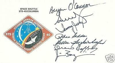 Space Shuttle Sts-40 Fully Crew Signed Cover - Uacc Rd Astronaut Autograph