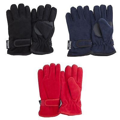 FLOSO Childrens/Kids Thermal Thinsulate Fleece Gloves with Palm Grip