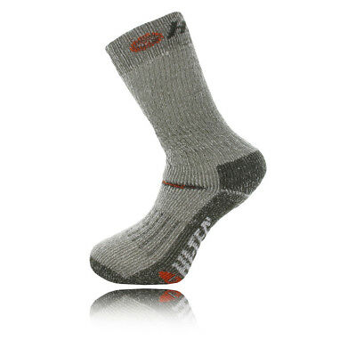 Hi-Tec Trek Heavyweight Mens Grey Green Outdoors Walking Ankle Socks 2 Pack