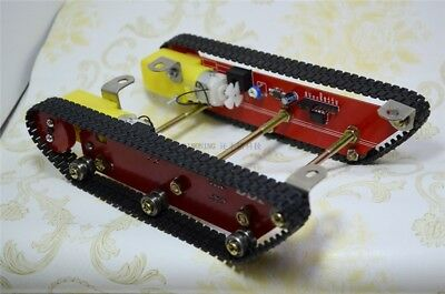DIY Tank Car Base Tracked Smart Car W/ Motor Driver Speed Test For Arduino Robot