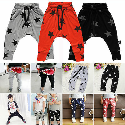 Kids Baby Toddler Boys Girls Casual Harem Pants Trousers Summer Bottom Tights