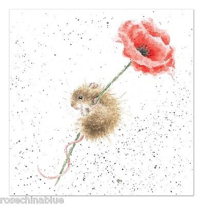 Wrendale Designs Country Set Greeting Card Mouse & poppy