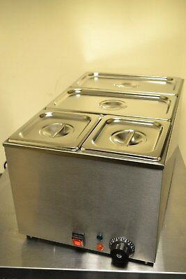 ACE RS 4 PAN WET WELL BAIN MARIE FOOD WARMER HOLDER including PANS & LIDS mod-2