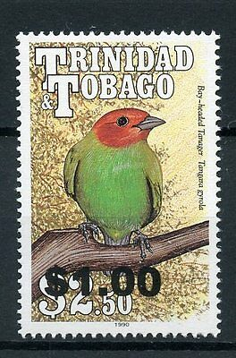 Trinidad & Tobago 2014 MNH Birds 1990 OVPT 1v Set Bay-headed Tanager Bird Stamps