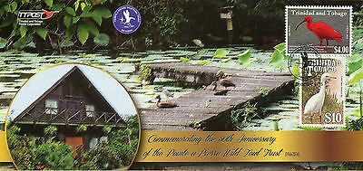 Trinidad & Tobago 2015 FDC Pointe-a-Piere Wild Fowl Trust 2v Set Birds Cover