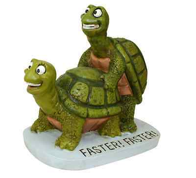 Turtle Garden Statue Ornament Fast Faster NEW Patio Balcony Pond or indoors