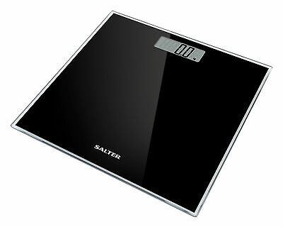 Salter Digital Bathroom Scale Toughened Glass Electronic Weight Scale Black 9037