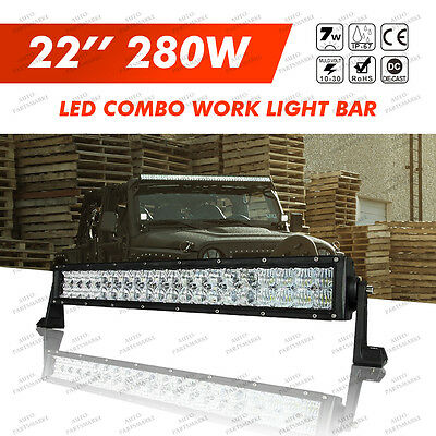 "5D CREE 280W  LED Combo Work Light Bar 22""INC Offroad Driving Lamp 4WD Truck SUV"