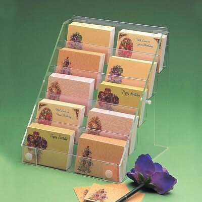 Acrylic Florist Card Display Stand Retail/Shop/Gift Counter/Wall