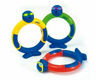 Zoggs Zoggy Dive Rings Multi-coloured Diving Game Stage 3 Confident Swimmers