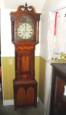 ANTIQUE TALL CASE CLOCK Charles of Louth C. Pailthorp~ Ca.1850 FREE SHIPPING U.S