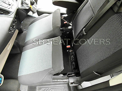 To Fit A Ford Transit Med.  Roof Van Seat Covers 89A Fabric / Leatherette Trim