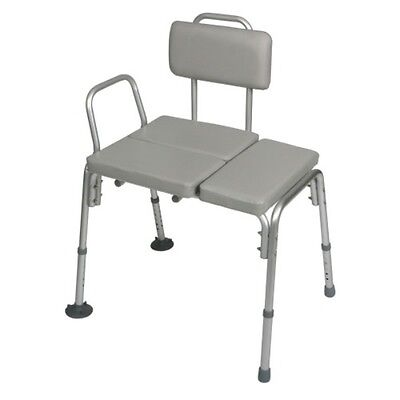 2 Medline Industries Padded Transfer Benches With Back - MDS86945P