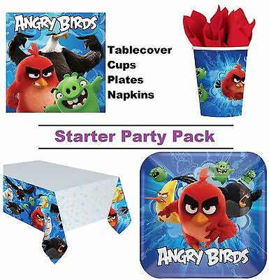 Angry Birds Movie 8-48 Guest Starter Party Pack Cups, Plates, Napkins Tablecover