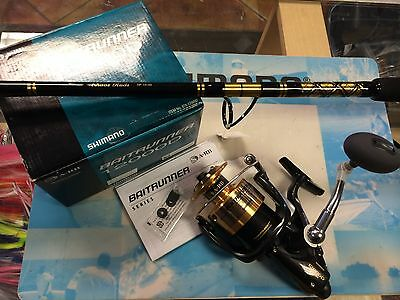 New Shimano Baitrunner 12000D Reel w/ CHAOS SP 15-30# Spinning Rod COMBO PACKAGE