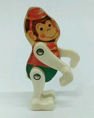 Vtg. Fisher Price 1963 Junior Circus #902 MONKEY replacement wooden figure