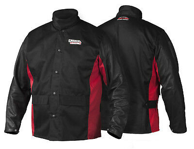 Lincoln K2987 Shadow Grain Leather Sleeved Welders Welding Jacket 2XL