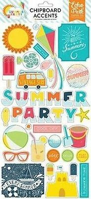 """Echo Park """"summer Party"""" Chipboard Accents Scrapjack's Place"""