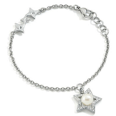 Silver Star Bracelet with Natural Fresh Water Pearl- SACR08