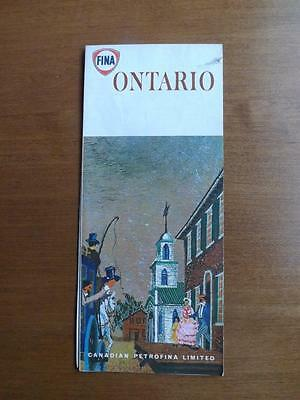 Map Ontario Fina Gas Oil Service Station Advertising Canadian Petrofina Limited