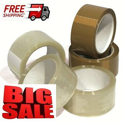 New Stock Clear Brown Strong Big Parcel Packaging Tape Rolls 48Mm X66M