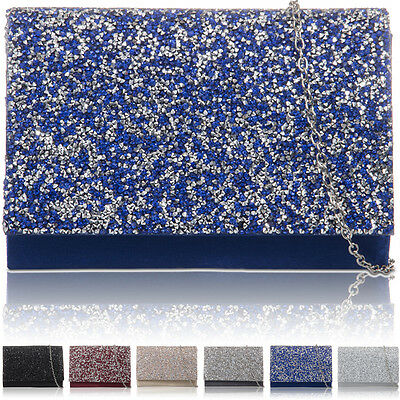 New Women Satin Bridal Clutch Ladies Gems Prom Bridesmaid Evening Wedding Bags