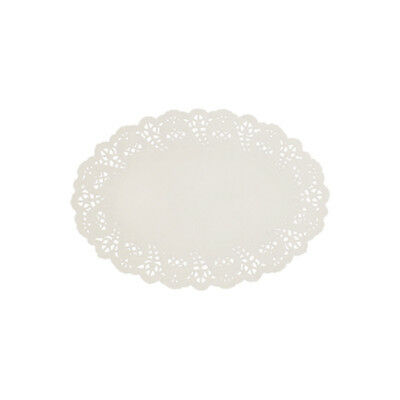 250x Disposable Lace Doyley White Oval 210x320mm Enviroboard Doily Doilies NEW