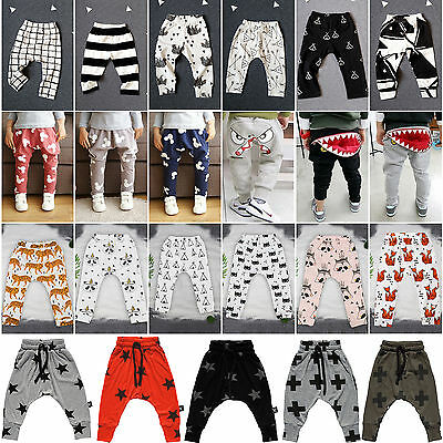 Toddler Kids Baby Boys Girls Cute PP Pants Bottom Leggings Harem Pants Trousers