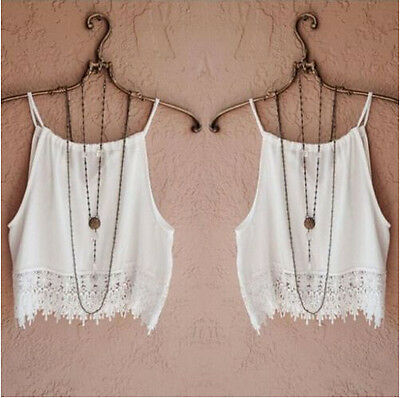 Summer Casual Womens Sleeve Blouse Tank Short Fashion Tee T-Shirt Tops Lace