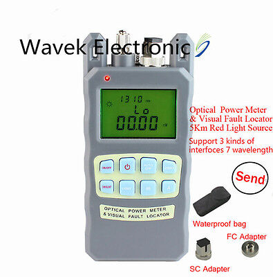 Fiber Optical Power Meter -70~+10dBm 1mw 5km Visual Fault Locator All In One