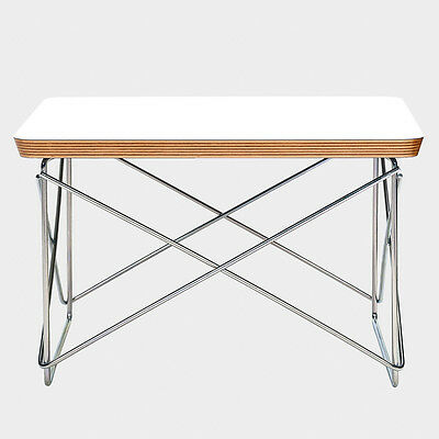 Eames Ltr Style Side Coffee Table White Top Chrome Base Free Shipping Picclick Uk