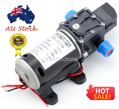 High Pressure Self Priming Water Pump 12V 100W 160Psi 8Lpm for Caravan Camping