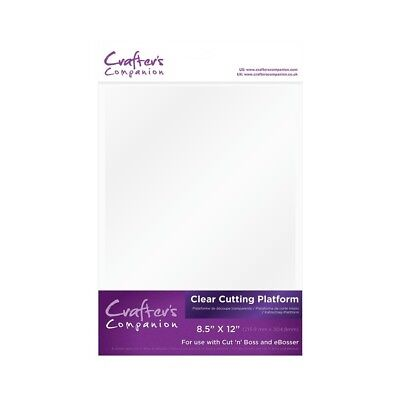 Crafters Companion Clear Cutting Platform 'A' Plate for Cut 'n Boss & eBosser