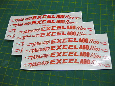 12 Takasago Excel A60 Wheel Rim Stickers Colour Choices All Models