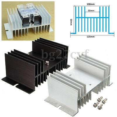 Aluminum Alloy Heat Sink For Solid State Relay SSR Heat Dissipation Up To 40A