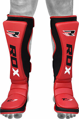 RDX Paratibie similpelle rosse MMA  Kick Boxing Muay Thai sparring
