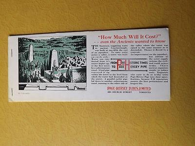 Ink Blotter Page Hersey Tubes Limited Advertising Toronto Water Pipe Aqueduct